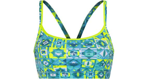 Funkita Sports Top Bikini Kobiety żółty/niebieski